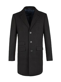 Ireby Black Melton Car Coat