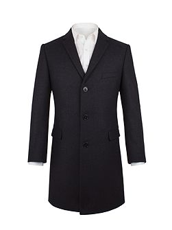 Read Navy Herringbone Overcoat