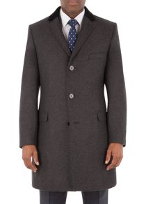 Aston & Gunn Ellel Charcoal Donegal Overcoat
