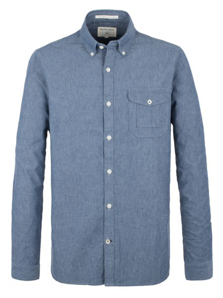 Racing Green Society Chambray Long Sleeve Shirt