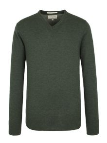 Racing Green Fletcher V neck Knit