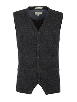 Gospel Button Through Lambswool Blend Vest