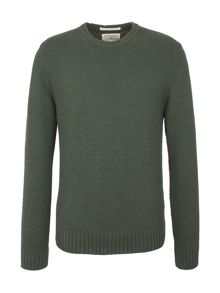 Racing Green Report Textured Crew Neck Knit