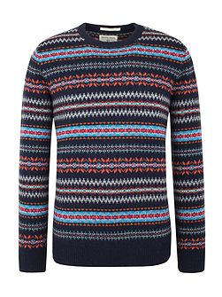 Douglas V Neck Fairisle Jumper