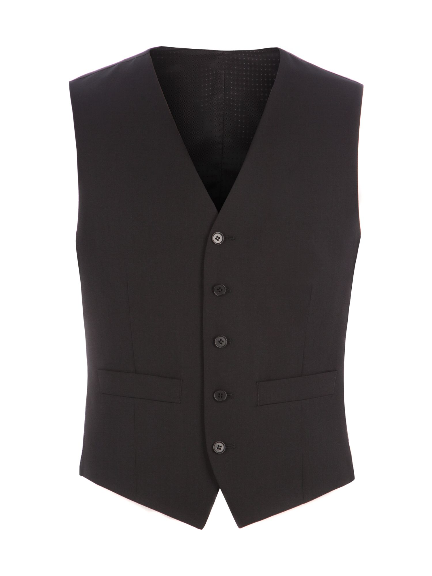 Men's Pierre Cardin Philip Black Twill Performance Vest, Black