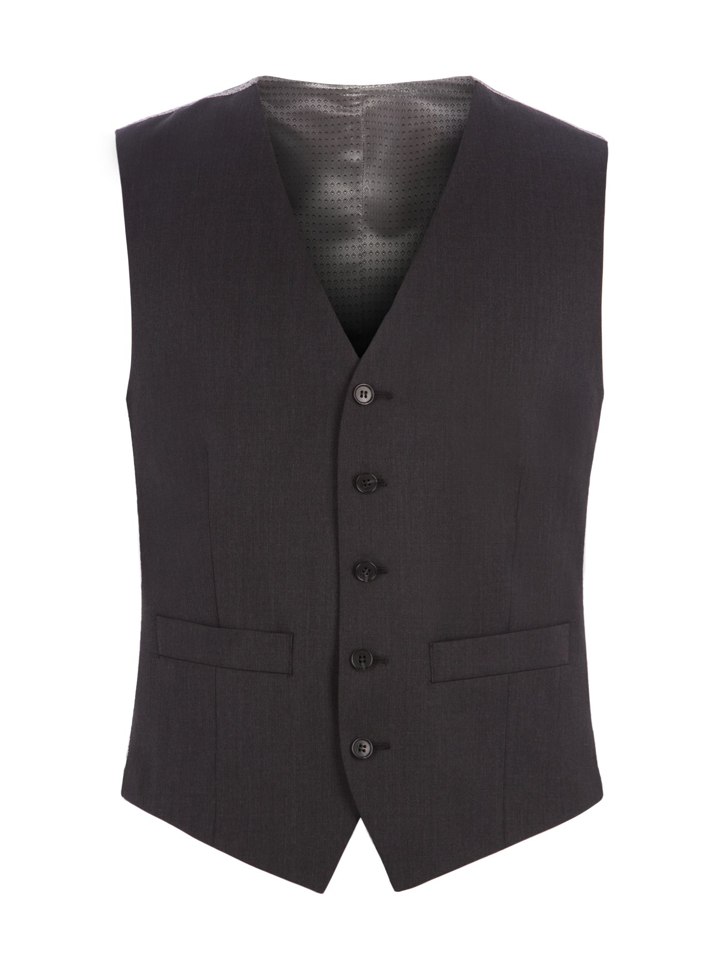 Men's Pierre Cardin Jack Charcoal Twill Performance Vest, Charcoal
