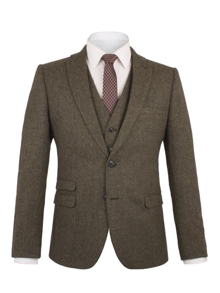 Ben Sherman Rifle Green British Tweed Camden Jacket