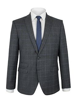 Grey With Blue Overcheck Camden Jacket