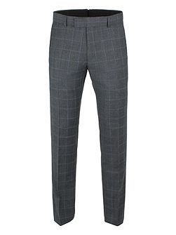Grey With Blue Overcheck Camden Trousers