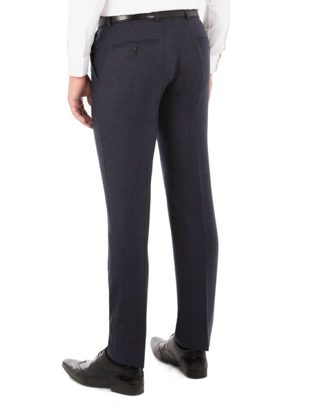 Ben Sherman Blue With Burgundy Overcheck Trousers