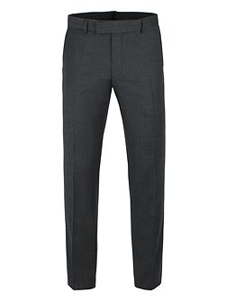 Charcoal Flannel Check Camden Trousers