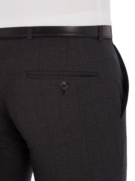 Ben Sherman Charcoal Flannel Check Camden Trousers