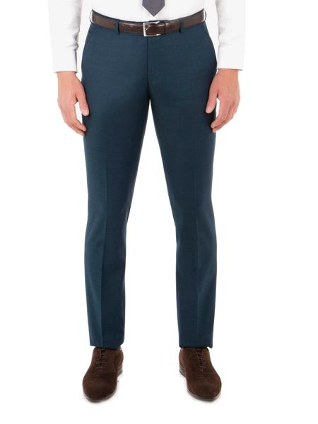Ben Sherman Teal Pick And Pick Camden Trousers