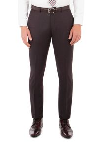 Ben Sherman Oxblood Pick And Pick Camden Trousers