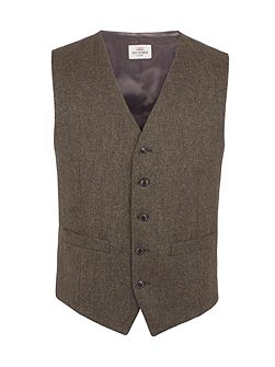 Rifle Green British Tweed Waistcoat