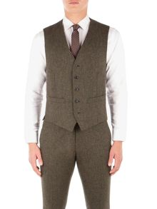 Ben Sherman Rifle Green British Tweed Waistcoat