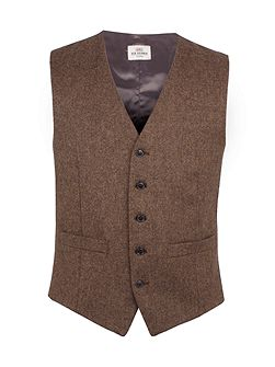 Antique Gold British Tweed Waistcoat