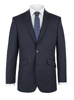 Navy Herringbone Fine Stripe Jacket