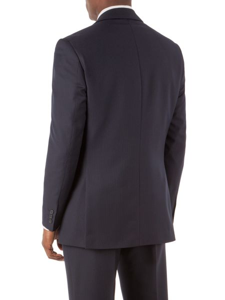 Pierre Cardin Navy Herringbone Fine Stripe Jacket