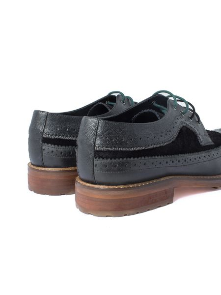 Racing Green Ministry Black Casual Brogue