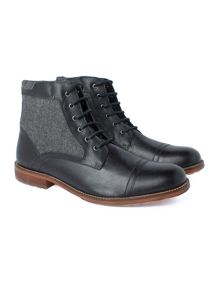 Racing Green Merchant Black Top Cap Boot