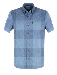 Ben Sherman Short Sleeve Textured Micro Gingham