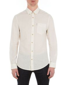 Ben Sherman Long Sleeve Plain Linen