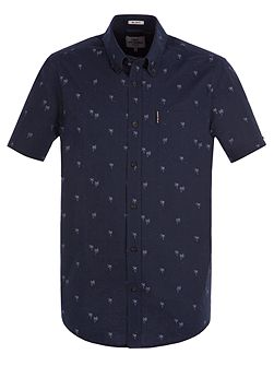 Short Sleeve Soho Palm Tree Print Shirt