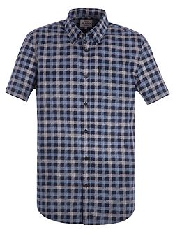 Short Sleeve Sketch House Gingham Shirt