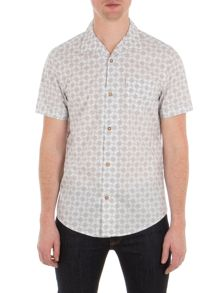 Ben Sherman Short Sleeve Optical Geo Shirt