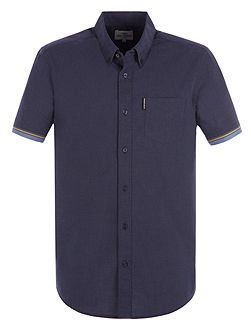 Short Sleeve Marl Tipped Shirt