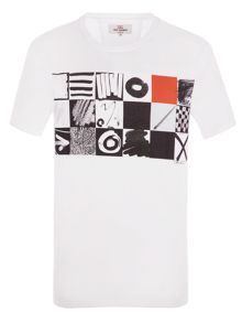 Ben Sherman O`S And X`S Checkerboard Tee