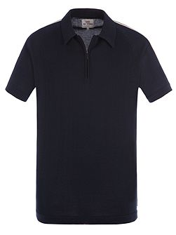 Short Sleeve Zip Polo