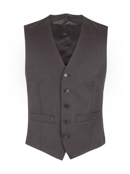 Pierre Cardin Charcoal Check Vest