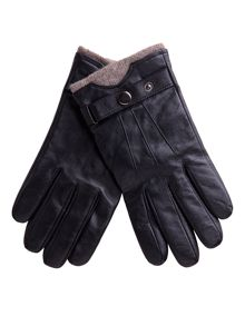 Alexandre of England Leather Glove With Wool Lining