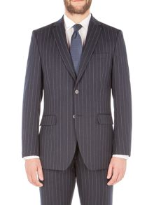 Aston & Gunn Forton Navy Stripe Jacket