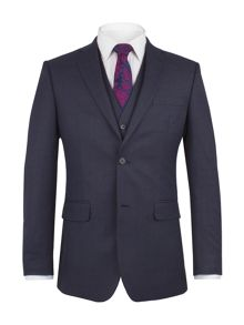 Aston & Gunn Appley Navy Check Jacket