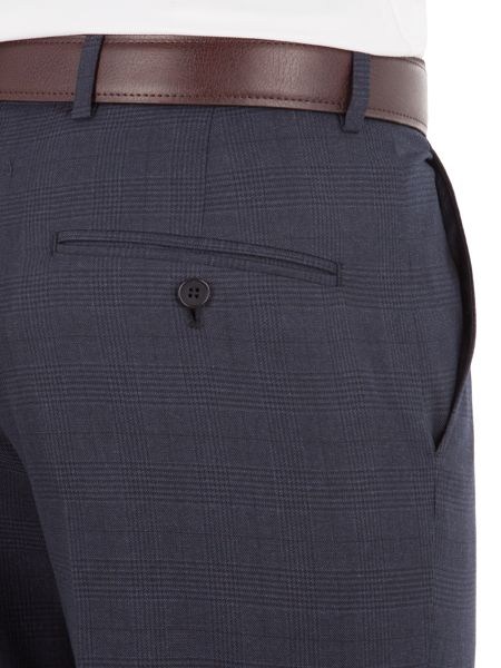 Aston & Gunn Appley Navy Check Trouser