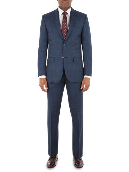 Aston & Gunn Hutton Navy Checktrouser