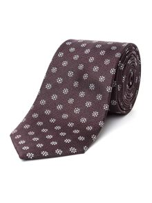 Racing Green Flower Design Tie