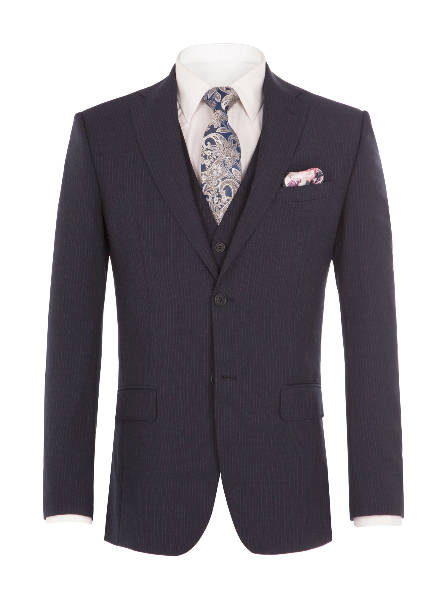 Alexandre of England Men's Alexandre of England Byward Navy Stripe Suit Jacket, Navy