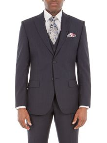 Alexandre of England Byward Navy Stripe Suit Jacket