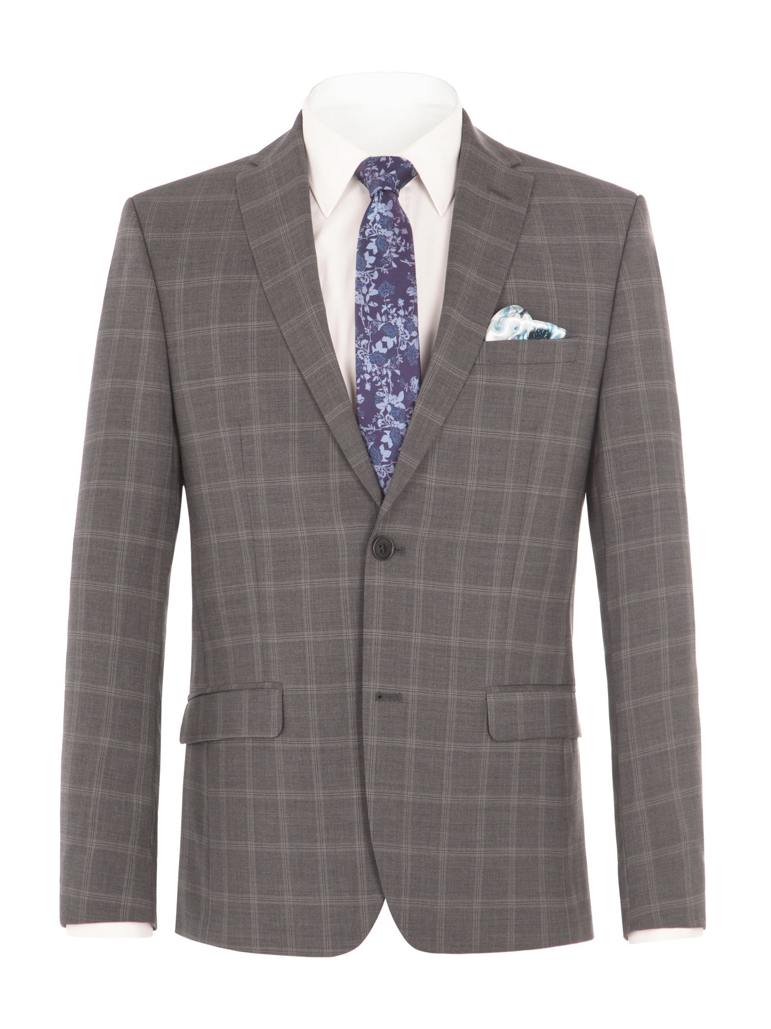 Alexandre of England Men's Alexandre of England Crosswall Grey Check Suit Jacket, Grey