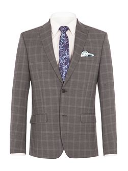 Crosswall Grey Check Suit Jacket