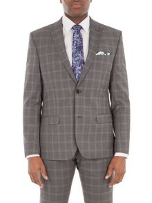 Alexandre of England Crosswall Grey Check Suit Jacket