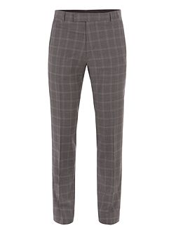 Crosswall Grey Check Suit Trouser