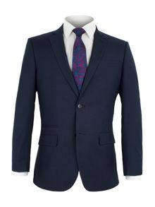 Alexandre of England Pepys Navy Broken Check Suit Jacket
