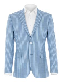 Aston & Gunn Nateby Blue Double Stripe Jacket