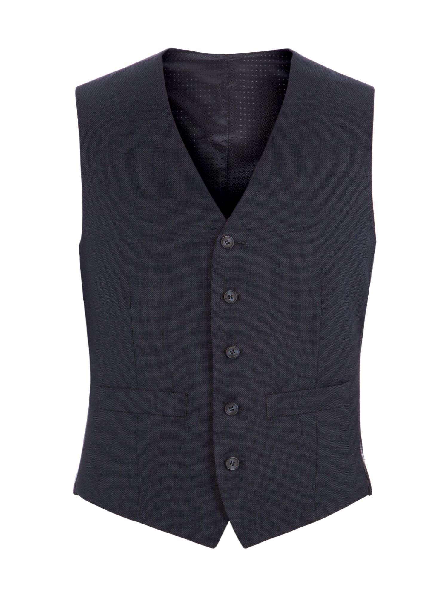 Men's Pierre Cardin Edward Navy Birdseye Vest, Navy