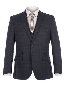 Fratton Navy Charcoal Jaspe Check Jacket